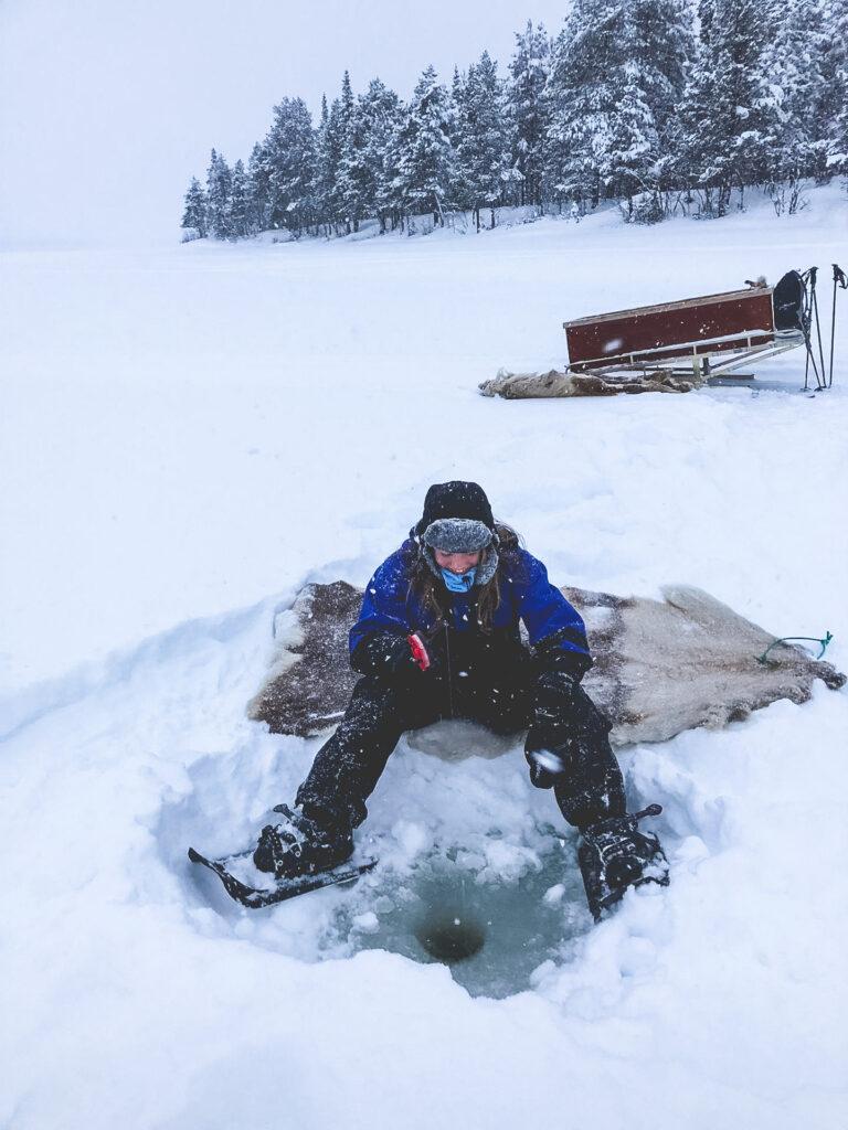 IJsvissen in Lapland.