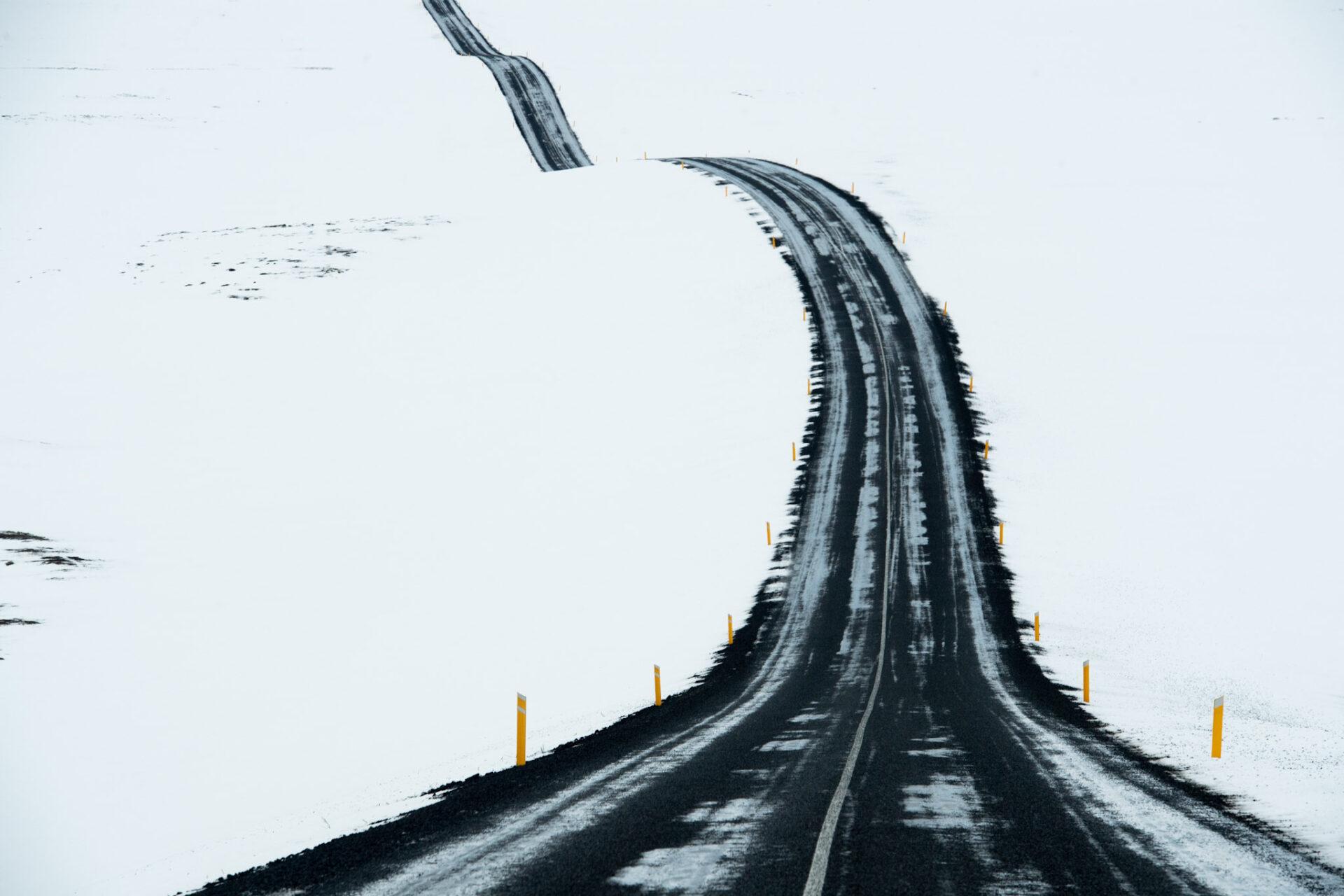Noord-IJsland glooiende wegen