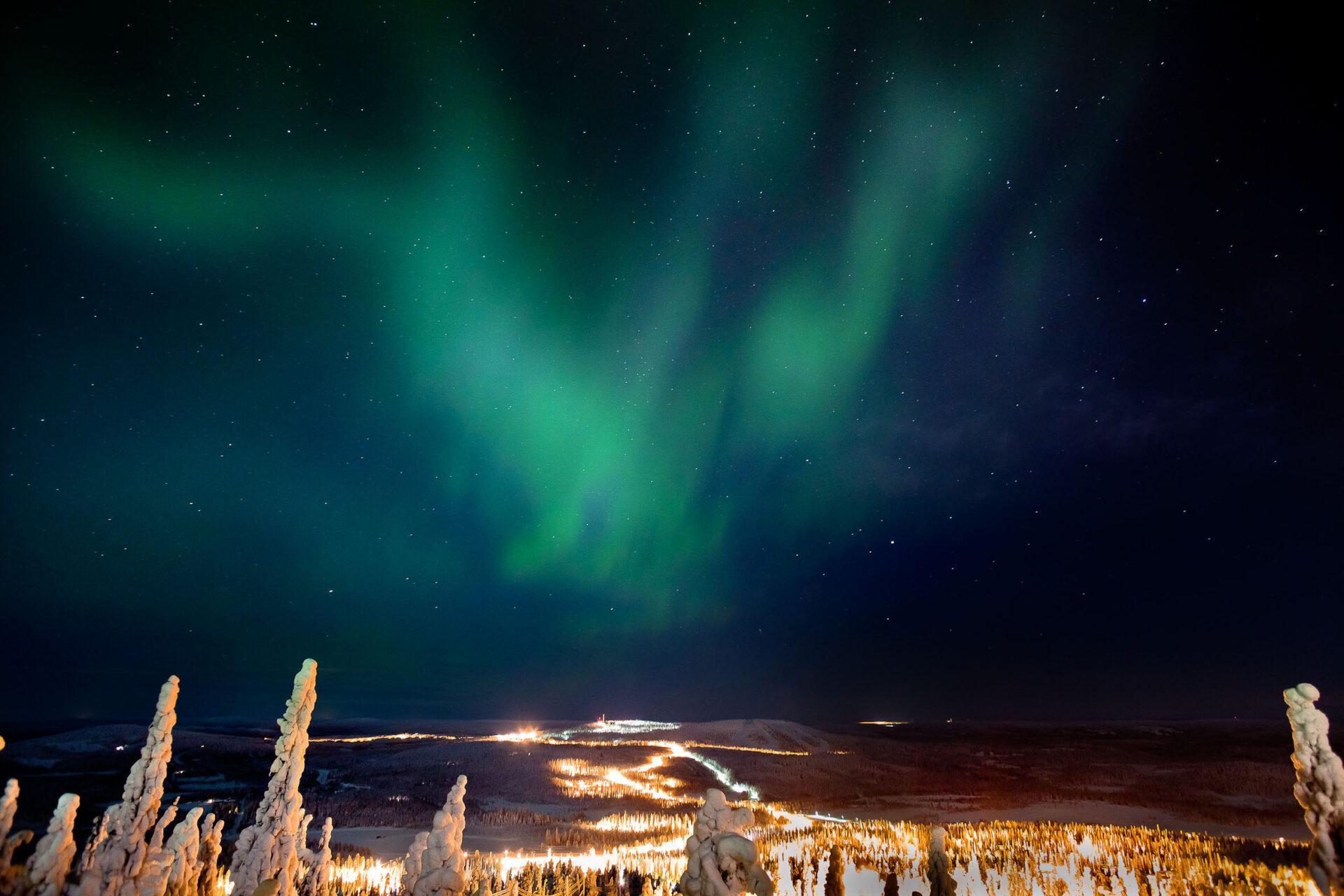Noorderlicht over Iso-Syöte