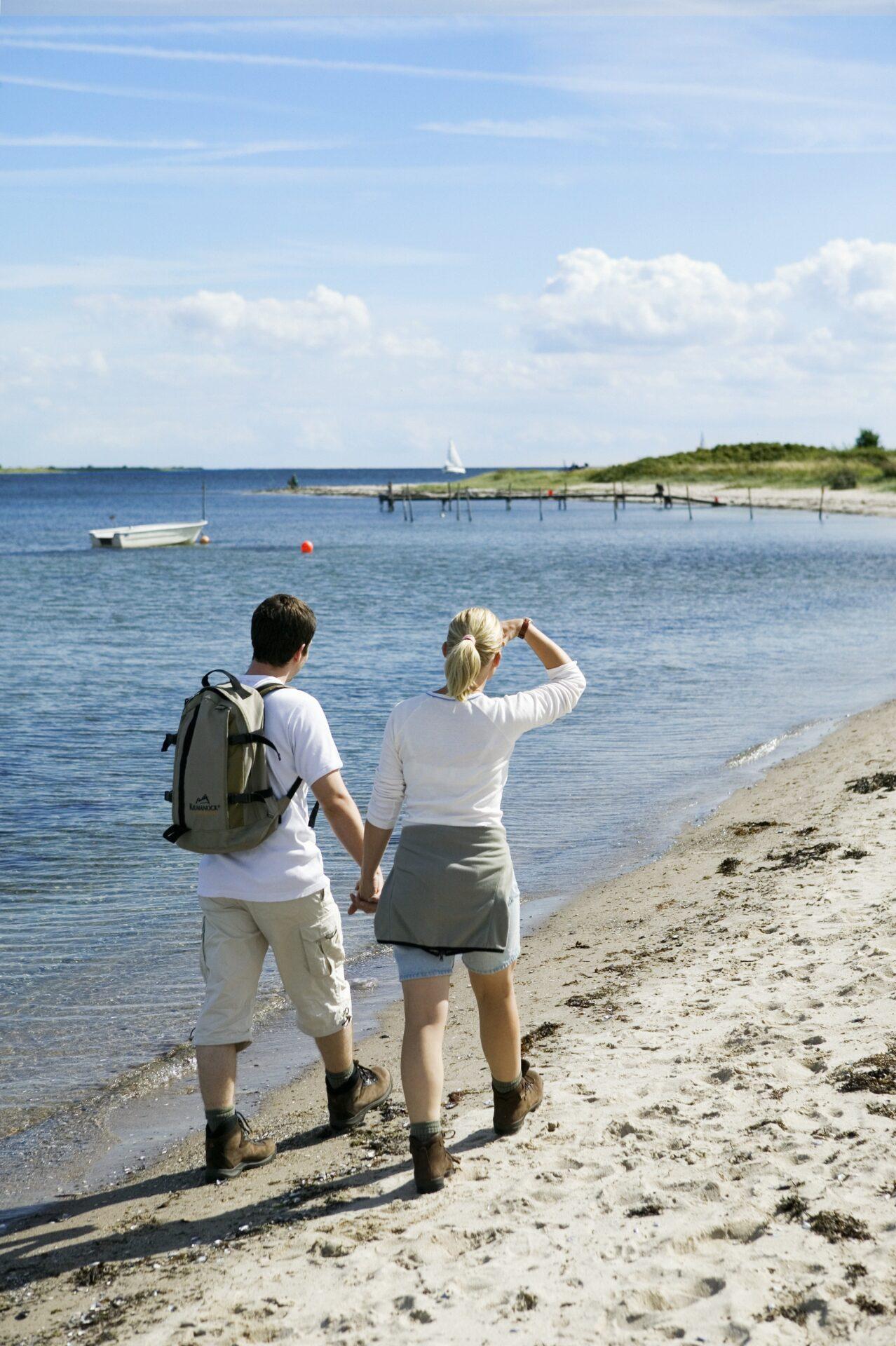 Wandelen op het strand in Zuid-Jutland