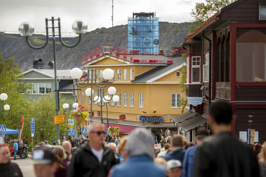Het stadscentrum van Kiruna
