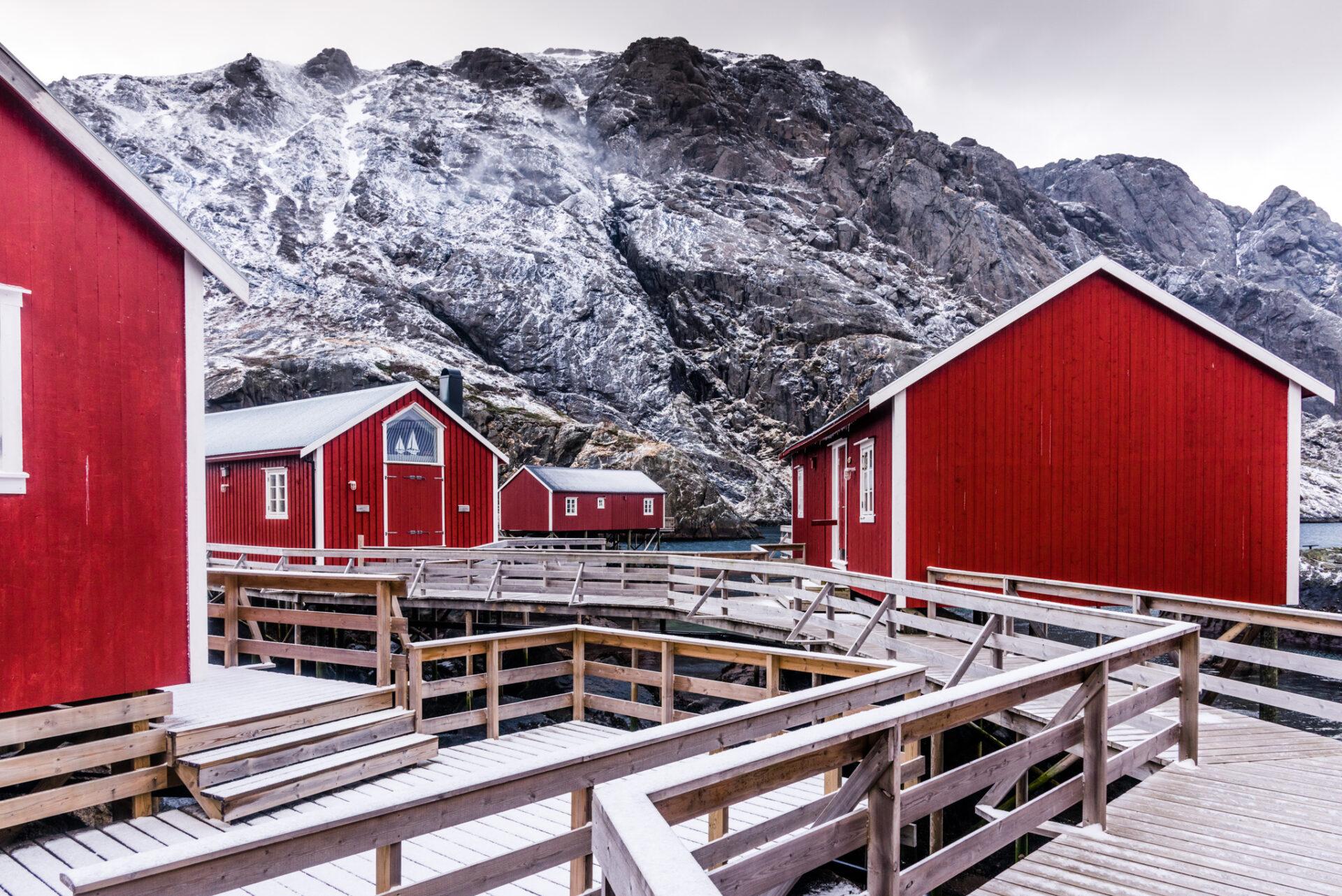 Idyllische huisjes in Nusfjord